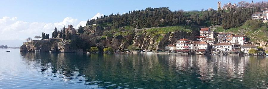 Пляж Канео. Панорама с Охридского озера
