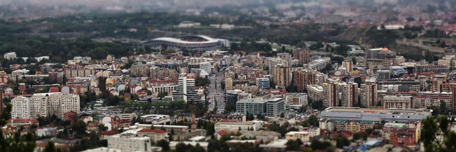 Панорама города Скопье